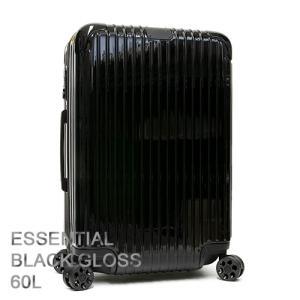 RIMOWA リモワ スーツケース キャリーケース ESSENTIAL エッセンシャル Check-In M Black Gloss ブラックグロス 83263624|grande-tokyo