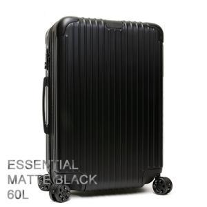 RIMOWA リモワ スーツケース キャリーケース ESSENTIAL エッセンシャル Check-In M Matte Black マットブラック 83263634|grande-tokyo