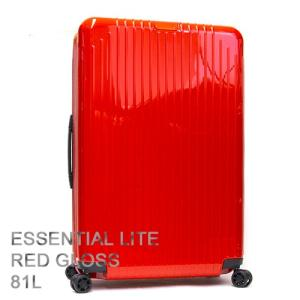 RIMOWA リモワ スーツケース キャリーケース ESSENTIAL LITE エッセンシャルライト Check-In L Red Gloss レッドグロス 82373654|grande-tokyo