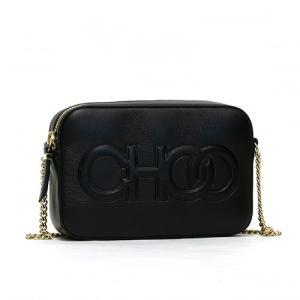ジミーチュウ JIMMY CHOO ショルダーバッグ 「CHOO」エンボスロゴ入り ブラック BALTI PJC BLACK *|grande-tokyo