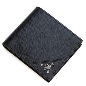 プラダ 2つ折り財布(小銭入れ付き) メンズ PRADA ブラック 2MO738 QME F0002 SAFFIANO METAL NERO|grande-tokyo