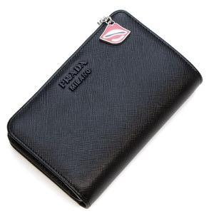 プラダ 2つ折り財布(小銭入れ付き) レディース PRADA ブラック 1ML225 2CHR F0002 SAFFIANO SMALTO NERO PD|grande-tokyo