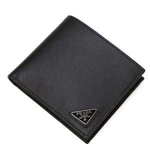 プラダ 2つ折り財布(小銭入れ付き) メンズ PRADA ブラック 2MO738 QHH F0002 SAFFIANO TRIANGOLO NERO|grande-tokyo
