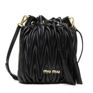 ミュウミュウ MIUMIU バケットバッグ ブラック 5BE014 N88 F0002 OOOMATELASSE NERO|grande-tokyo