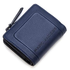 マークジェイコブス 2つ折り財布(小銭入れ付き) レディース MARC JACOBS ブルーシー The Textured Box Mini Compact Wallet M0015107 426 BLUE SEA grande-tokyo