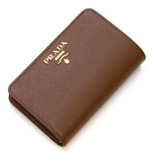 プラダ 2つ折り財布(小銭入れ付き) レディース PRADA コニャック 1ML225 QWA F0046 SAFFIANO METAL COGNAC|grande-tokyo