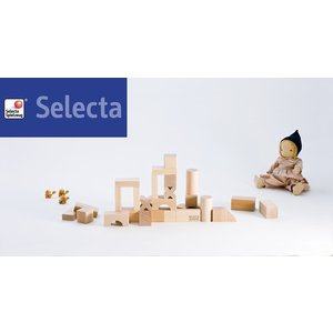 ブロックス BLOCKS・スターターセット・小 セレクタ社 selecta   【おもちゃ 木のおもちゃ 白木 つみき 積み木 ブロック 2歳 3歳 BLOCKS  blocks|grande0606|02