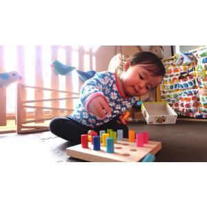 HABA(ハバ)カラーリングのペグ遊び ペグあそび 積み木|grande0606|02
