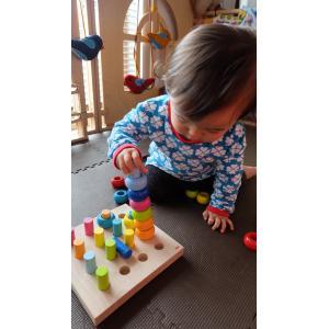 HABA(ハバ)カラーリングのペグ遊び ペグあそび 積み木|grande0606|03