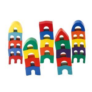 セレクタ社 木のおもちゃ Selecta 知育玩具 ドイツ製 アルカディアゲーム 積み木 バランスゲーム|grande0606