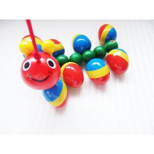 ニック社NIC WALTERむかで  出産祝い お誕生日 積み木 人気 プルト-イ 木のおもちゃ ニック 引くおもちゃ おもちゃ 0歳 1歳|grande0606
