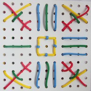 ひも通しホワイトボード  デュシマ社 手先を使う 1歳2歳 3歳 ひもとおし ひも通し 知育玩具 知育玩具ひも通し|grande0606