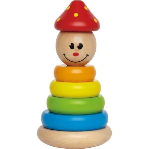 Hape ハペ社 スタッキングピエロ お誕生日 1歳 木のおもちゃ|grande0606