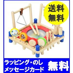 楽器玩具 木のおもちゃ I'm TOY アイムトイ 音楽 ミュージックステーション【お誕生日】2歳: grande0606