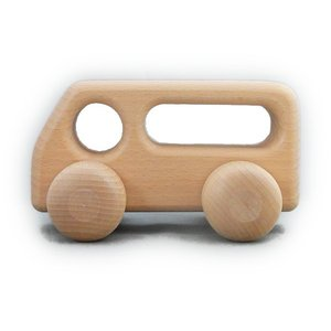 ケラー社 バス(大)白木 keller 木のおもちゃ 車 木製 玩具 出産祝い|grande0606