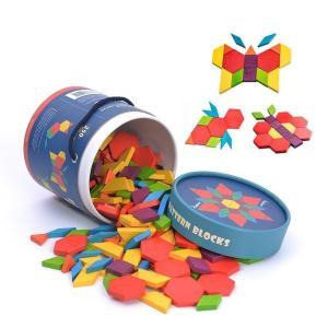 パターンブロック パズル つみき 図形 幼児 250ピース 知育玩具 MiDeer ミディア|grande0606