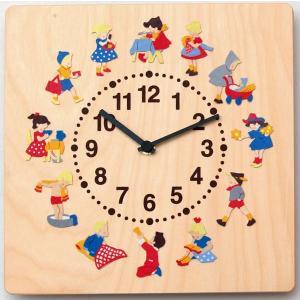 ヘラー社時計 子どもの一日 壁掛時計 木製 木の時計 HELLER ヘラー社 子供部屋 木のおもちゃ 出産祝い 誕生日1歳 1歳誕生日|grande0606