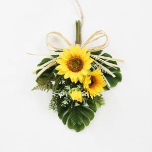 リース ひまわり 花 玄関ドア 造花 スワッグ...の詳細画像1