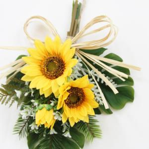 リース ひまわり 花 玄関ドア 造花 スワッグ...の詳細画像2