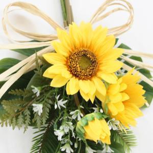 リース ひまわり 花 玄関ドア 造花 スワッグ...の詳細画像3