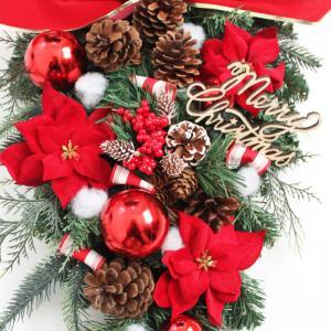 クリスマスリース クリスマススワッグ 玄関飾り...の詳細画像2