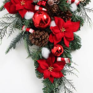 クリスマスリース クリスマススワッグ 玄関飾り...の詳細画像3