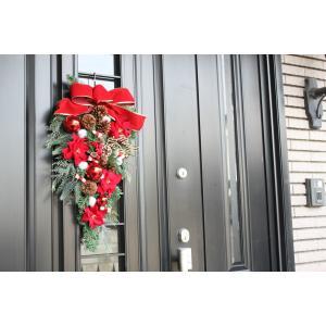 クリスマスリース クリスマススワッグ 玄関飾り...の詳細画像4