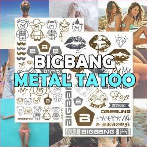 ネコポス【国内発送】ビッグバン(BIGBANG)メタルタトゥー METAL TATOO タトゥーシール|grandpark