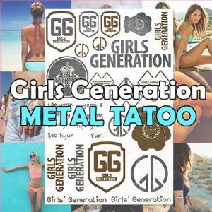 【クロネコDM便】少女時代(Girls Generation)メタルタトゥー METAL TATOO タトゥーシール grandpark