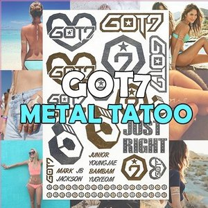 ネコポス【国内発送】ガットセブン(GOT7)メタルタトゥー METAL TATOO タトゥーシール|grandpark