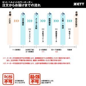 <受注生産>ゼット(ZETT) BHL307 軟式打者用ヘルメット(片耳用) ガンメタリック カラーオーダー|grandslam|02