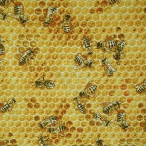【メール便130円〜】【50cm以上10cm単位】【USAコットン 生地 布】Bees and Flowers |granny