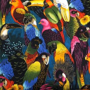 【メール便130円〜】【50cm以上10cm単位】【USAコットン 生地 布】Birds of Feather|granny
