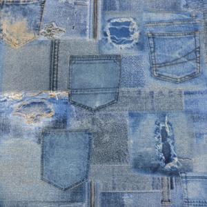 オランダコットン Jeans Pocket  (輸入生地 生地 布)|granny