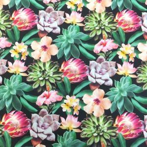 SUCCULENTS&FLOWER(USAコットン 生地 布)|granny