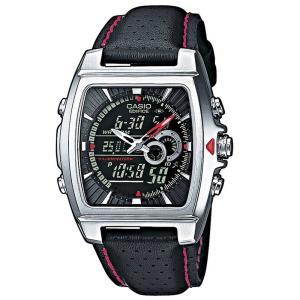 期間限定ポイント6倍 カシオ 腕時計 エディフィス CASIO EDIFICE EFA-120L-1A1VEF アナデジ ブラック レッド シルバー プレゼント|grans