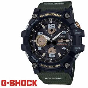 CASIO カシオ 時計 G-SHOCK Gショック マッドマスター 電波ソーラー GWG-100-1A3 ブラック×カーキ メンズ ウォッチ MUDMASTER プレゼント|grans