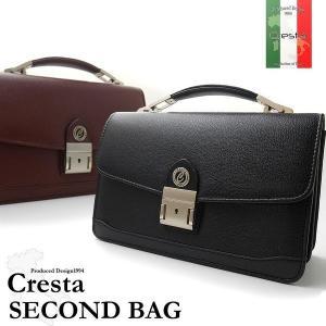 クレスタCRESTAセカンドバッグ13701740全2色ブラックブラウンメンズ紳士持ち手鍵付き鞄 grans