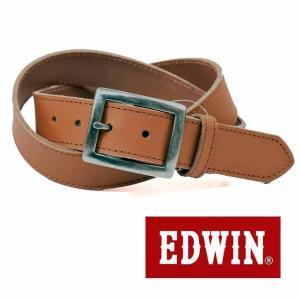 大特価EDWINエドウィン本革ベルトブラウン018111牛革一枚革メンズベルト男性用ベルトレディースベルト女性用ベルト|grans