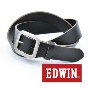 大特価 EDWIN エドウィン 本革ベルト ブラック 018137 牛革 メンズベルト カジュアルベルト サイズフリー  男性用ベルト レディースベルト|grans