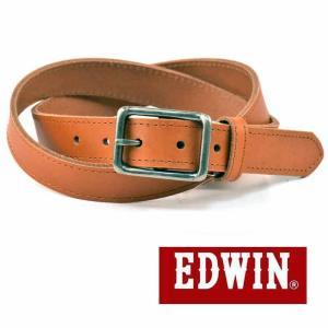 大特価EDWINエドウィン本革ベルトブラウン018141一枚革牛革メンズベルト男性用ベルトレディースベルト女性用ベルト|grans