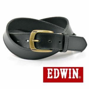 大特価 EDWIN エドウィン 本革ベルト ブラック 018144 一枚革 牛革 メンズベルト 男性用ベルト レディースベルト 女性用ベルト|grans