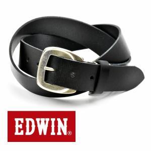 ベルト メンズ 本革 一枚革 カジュアル サイズフリー 大特価 EDWIN エドウィン 本革ベルト ブラックBlack 020139 牛革  メンズ|grans