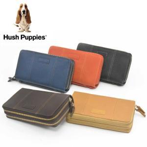 Hush Puppies ハッシュパピー ダブルWファスナー ラウンドファスナー 長財布 全5色  取っ手付き 牛革 HP0651 5502 プレゼント バッグ ポーチ 大きめ財布|grans