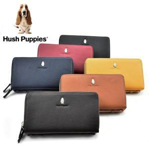 Hush Puppies  ハッシュパピー ダブルファスナー ラウンドファスナー 長財布 全6色 W ダブルファスナー 取っ手付き 牛革 HP1 送料無料|grans