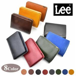 メール便送料込 Lee リー  YANKEE社製イタリアンレザー使用 折財布 ブック型二つ折り財布 0520266 全8色 メンズ財布 ミドルウォレット 誕生日プレゼント|grans