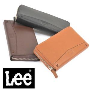 Lee リー 長財布 ラウンドファスナー 本革 0520318 メンズウォレット レザー 全3色 メンズ財布 レディース財布 バレンタイン|grans