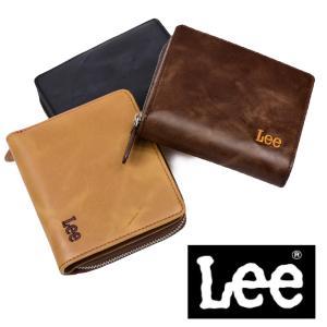 メール便送料無料 Lee リー ラウンドファスナー二つ折りメンズビジネス薄い財布 0520371 メンズウォレット レザー アンティーク 全3色|grans
