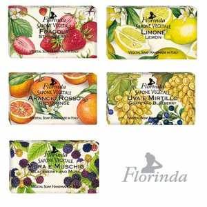 Florindaフロリンダフレグランスソープフルーツ95g全5タイプ日本グランドシャンパーニュ|grans