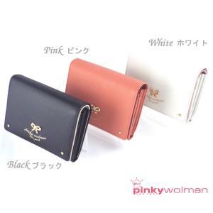 財布レディース女性用折財布かわいいおしゃれピンキーウォルマンpinkywolmanティファシリーズ二つ折り財布70301全3色|grans